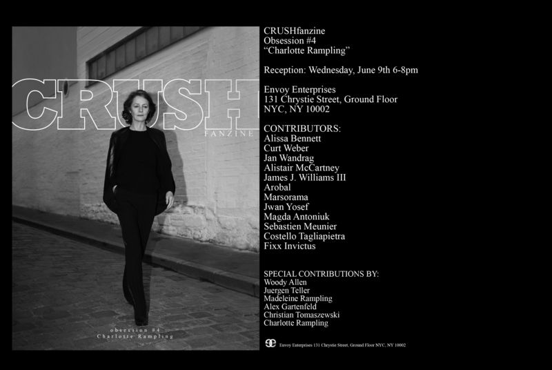 CRUSHfanzine Issue #4 Charlotte Rampling Invite 1